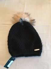 $42 Lauren Ralph Lauren Black Hat With Fake Fur Pompon #7