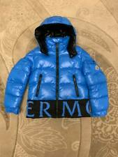 PRE-OWNED MONCLER BOYS JACKET DOWN COAT LIGHT BLUE SIZE:10 YEARS 140 CM