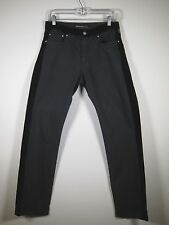 Versace Jeans Couture Men Black Felt Pants Leg Lining Size 31