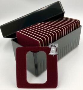 Air-tite Storage Box + Display Card for 20 1oz Silver Bar Coin Holder Capsule