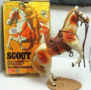 Vintage 1973 Marx Toys 7409 The Lone Ranger Tonto's Horse SCOUT - Boxed - (2031)
