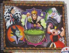 New Vile Villains Tapestry Throw Gift Blanket Disney Maleficent Cruella Ursula