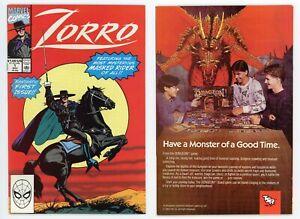 Zorro #1 (NM 9.4) 1st Issue w/Tiger Electronics INSERT Western 1990 Marvel