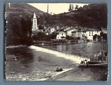 France, Ariège, vue à identifier Vintage citrate print. Midi Pyrénées Tirage c