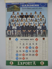 "1973-74 EXPORT ""A"" TORONTO MAPLE LEAFS FULL CALENDAR"