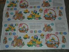 Easter Spring Fabric Panel Appliques