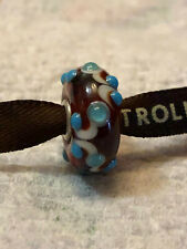 Trollbeads original - OOAK (raro) - Granato e turchese