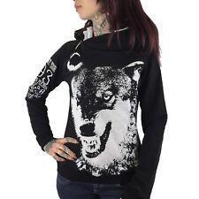 "YAKUZA - Damen Hoodie GHOB 8129 ""Wolf"" black (schwarz)"