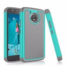 Motorola Moto E4 Hybrid Rugged Rubber Dual Layer Impact Shockproof Case - Teal