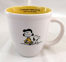 Hallmark Peanuts Lucy Snoopy If Everybody Agreed With Me They'd Be Right Mug Cup
