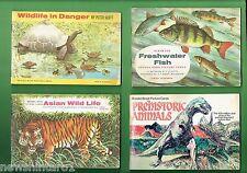 #T9. FOUR BROOK  BOND CARD ALBUMS, FISH, WILDLIFE, PREHISTORIC ANIMALS, etc