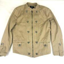 Men's H&M Jacket Corduroy Style Zip Up w/ Buttons Beige Tan Size 42R EUC!