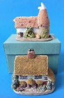 2 Miniature Houses Bluebell English Cottage and Mill w Turret BCR Lilliput Lane?