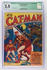 Catman Comics #18 - Continental 1943 - CGC 5.0 Qualified
