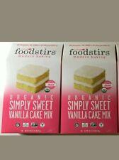 Foodstirs Modern Baking Organic Simply Sweet Vanilla Cake Mix (lot of 2)