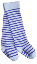 Pork Chop Kids Baby Legwarmers Knee High Socks Purple White Stripe Size 2-4 Yr