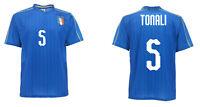 Camiseta Tonali Italia Oficial Nacional Azul Figc 5 Under 21 Fútbol Europeo 2019