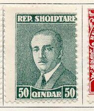 Albania 1925 Hoxa Issue Fine Mint Hinged 50q. 102344
