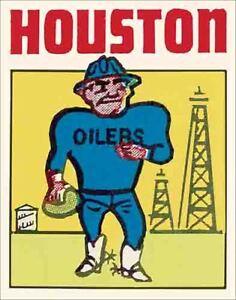 Houston Oilers  Vintage Looking  1960's  NFL Football   Die Cut  Decal  Sticker