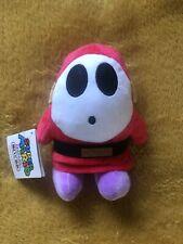"Super Mario Plush Teddy - Shy Guy Soft Toy - Size 6"" / 15cm NEW"