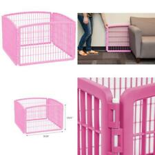 Iris Usa 4 Panel Plastic Dog Playpen, Pink