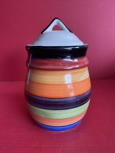 Philippe Richard - Rondo Multi Colored Decorative Jar w/ Lid. Hand Painted