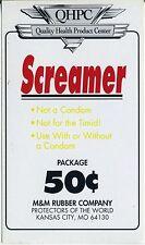 vtg condom machine decal sticker vending NOS The Screamer 50 cent
