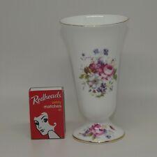 Coalport Bone China England Shrewsbury Floral motif posy vase trumpet shape