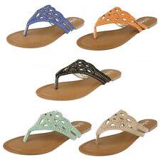 Sandali e scarpe infradito blu casual per il mare da donna