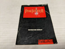 SNES Final Fantasy II Instruction Booklet USED