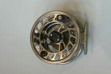 Orvis Mach IV fly fishing reel, silver colour with reel case
