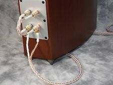Maze Audio Reference Series Litz Speaker Cables, W/ Jumper Cables, Furutech 9 Ft
