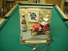 Pabst Blue Ribbon Beer Lighted Motion Red Car 1950s 60s