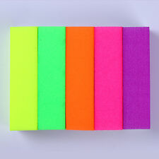 5 Colors Fluorescent Nails Buffer Set Sanding Grinding Polishing Block File Tool