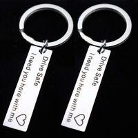 Drive Safe Keychain Pendant Gift For Couples Boyfriend Girlfriend Lover Key Ring