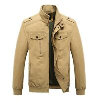Mens M65 Combat Field Jacket Vintage Type Military Army Coat Quilted Liner Olive