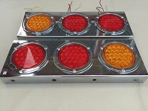 1 PAIR LED TAIL LIGHT CU2 10-30V WITH STOP PARK BLINKER 4 TRAILER TRUCK BUS