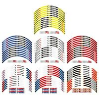 "For HONDA REPSOL HRC CBR RR 17"" Thick Edge Outer Rim Sticker Stripe Wheel Decals"