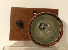 Vintage Jud Co Natural Wood Case Spotlight With Switch