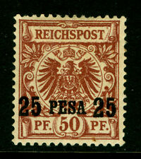 German Colonies - EAST AFRICA 1893 SURCHARGED size 17½mm 25p/50pf Sc# 5a mint MH