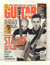 GUITAR WORLD MAGAZINE STAIND JIMI HENDRIX THE CLASH ZZ TOP FLEETWOOD MAC ATARIS