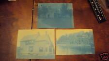 3 1892 4 X 5 Inches Cyanotype Photographs