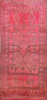 Antique Vegetable Dye Authentic Moroccan Area Rug Tribal Hand-knotted Wool 7x12