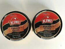 Kiwi Parade Gloss Premium Leather Polish Black 2.5oz Large Can Two Pack (2)