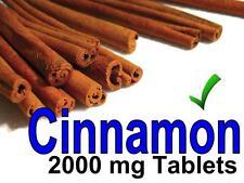 Cinnamon 2000mg Tablets 100 pack - can lower blood sugar level, heart disease