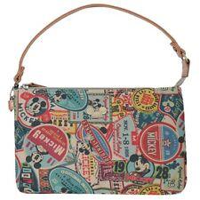 Disney Mickey Mouse Vintage Pattern Purse Purpose Women Pouch Bag Handbag