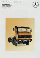 Mercedes 3336K 8x4 Kipper Prospekt Technische Daten 3/86 Lkw 1986 specifications