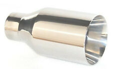 "Stainless Exhaust Tip 4"" Outlet fits Ford Mustang Focus Explorer w/2.25"" Pipe"