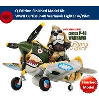 T-Model WWII Curtiss P-40 Warhawk Fighter w/Pilot Q Edition Finished Model Kits