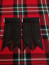 flashes pour Chaussettes de kilt noir clair écossais /